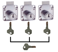 Square Backed Locks Masterkeyed