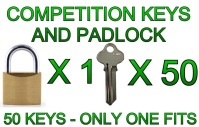Competition Padlock and 50 Keys