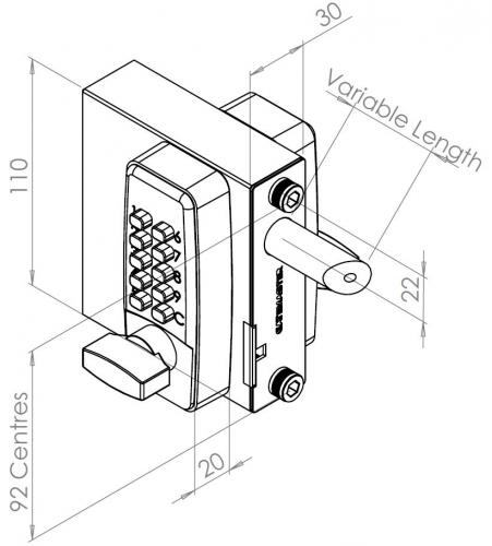 Digital Gate Lock Gatemaster Dgl01