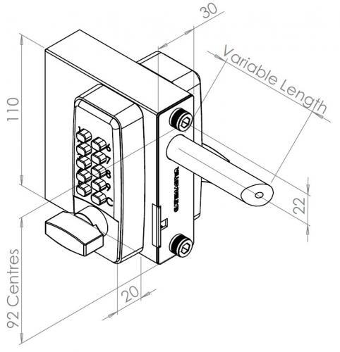Digital Gate Lock Gatemaster Dgl02