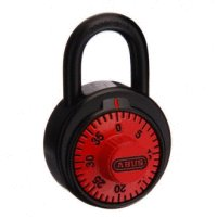 Abus Dial Combination Padlock Red Dial School Locker