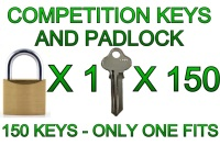 Competition Padlock and 150 Keys