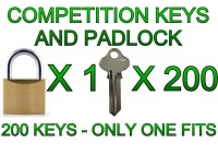 Competition Padlock and 200 Keys