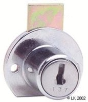 FL Round Base Cupboard Lock