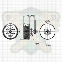 Combination Cam lock LG904S for Sliding Cabinet Doors 4