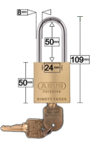 RESTRICTED KEY ABUS PADLOCK 83/45 Extended 50mm Shackle