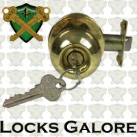 Carbine Polished Brass Lockset