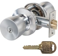 Restricted Ilco IP8 Key Lockwood 530 Entrance Set