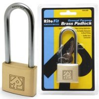 Ritefit 50mm Padlock with extended 80mm shackle Keyed to Differ
