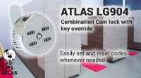 100 x Combination Cam locks with Key Override LG904 3