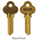 LW4 (C4) Brass finish key blanks