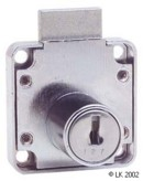 FL Square Back Cupboard Lock Keyed to Differ