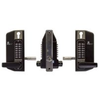 Borg Digital Gate Lock Marine Grade Pro Black 3430 BTB Lever ECP Key O/ride L/out