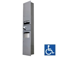 Disabled Recessed 3-in-1 Paper Towel Dispenser / HK2400SAR Hand Dryer / 10L Waste Receptacle