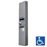 Disabled Surface Mounted 3-in-1 Paper Towel Dispenser / HK2400SAR Hand Dryer / 10L Waste Receptacle