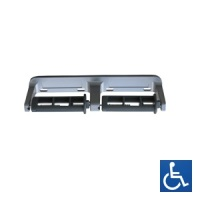 Baked Enamel Aluminium Double Toilet Roll Holder - Restricted Feed