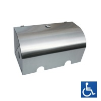 Lockable Satin Stainless Double Toilet Roll Holder