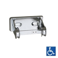 Bright Chrome Single Toilet Roll Holder