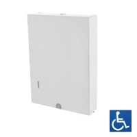 White Powder Coated Slimline Interleaved Paper Towel Dispenser