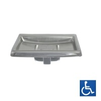 Surface Mounted Satin Stainless Soap Dish with Drain