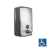 Ellipse Series Satin Stainless Vertical Soap Dispenser