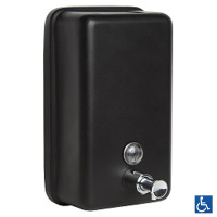 Designer Series Black Vertical Soap Dispenser