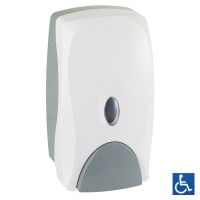 White ABS Foam Soap Dispenser .75L