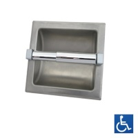 Recessed Satin Stainless Single Toilet Roll Holder