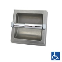 Surface Mounted Satin Stainless Single Toilet Roll Holder