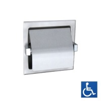 Recessed Single Toilet Roll Holder with Hood