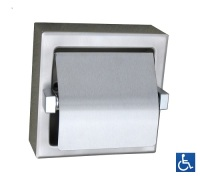Surface Mounted Single Toilet Roll Holder with Hood