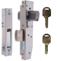 Brava Short Backset Double Cylinder Mortice Lock with Hookbolt on Ilco IP8 Restricted Keys