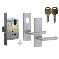 Kaba MS2 Mortice Classroom Lock Kit 600 Series Square End On IP8 Restricted Keys