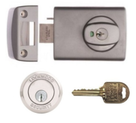 Restricted Ilco IP8 Key Lockwood 001 Deadlatch with Metal Frame Strike