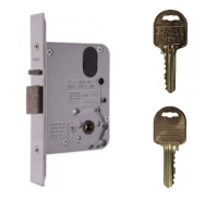 Lockwood 3572 SC Vestibule Mortice Lock on Ilco IP8 Restricted Keys