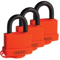 Abus 70AL/45 Keyed Alike Rescue Orange 3 Pack