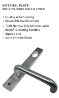 Lockton Internal Plate with Cylinder Hole & Lever