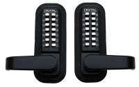 Lockey 2985MGDC Black Narrow Stile Digital Deadlatch Dual Combination